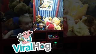 Little Kid Gets More Than He Signed Up For In Arcade Game!