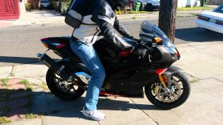 7. 2004 Aprilia RSV1000R Factory startup and take-off