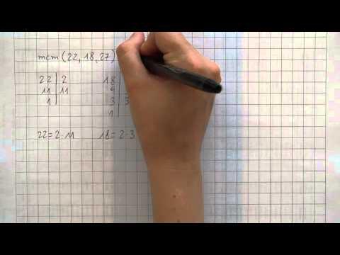 Calcolo del m.c.m. (minimo comune multiplo)