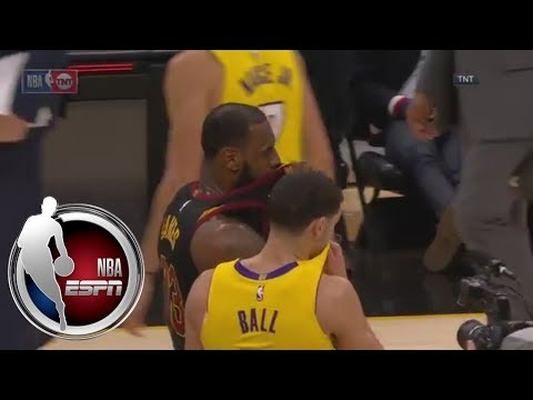 LeBron James and Lonzo Ball's secret conversation after Lakers-Cavaliers game | ESPN