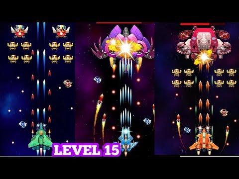 Strike Galaxy Attack: Alien Space Chicken Shooter Gameplay Level 15