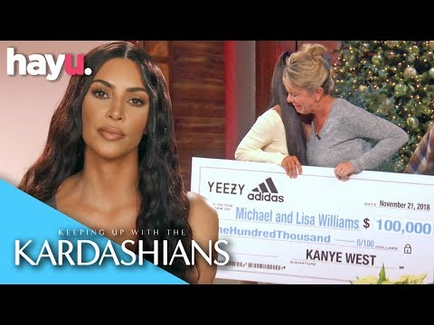 Kim & Kanye Donate 100k To A Firefighter And His Wife | Season 16 | Keeping Up With The Kardashians