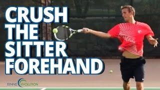 Tennis Highlights, Video - TENNIS LESSONS   How To Crush A Sitter Tennis Forehand