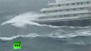 Video Dramatic video of Clelia II Antarctic cruise ship slammed by giant waves MP3, 3GP, MP4, WEBM, AVI, FLV Agustus 2018