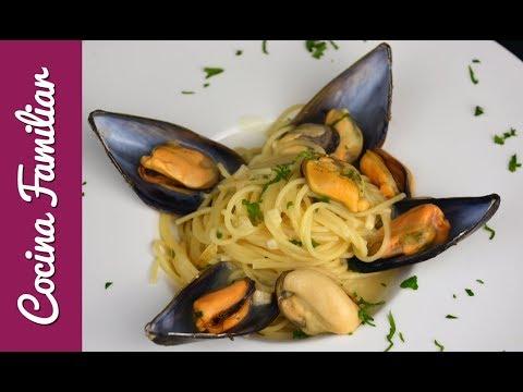 Videos caseros - Espaguetis con mejillones a la marinera  Recetas caseras fáciles de Javier Romero paso a paso