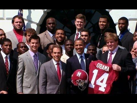 President Obama Welcomes BCS Champion University of Alabama Crimson Tide
