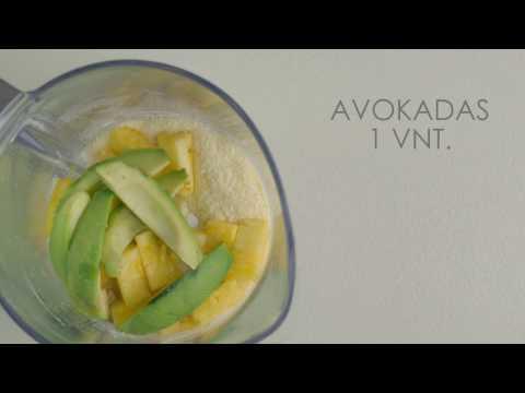 """Tropinių vaisių kokteilis su Nominal """"Ryžių"""" koše"""
