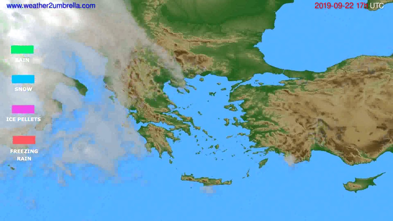 Precipitation forecast Greece // modelrun: 12h UTC 2019-09-20
