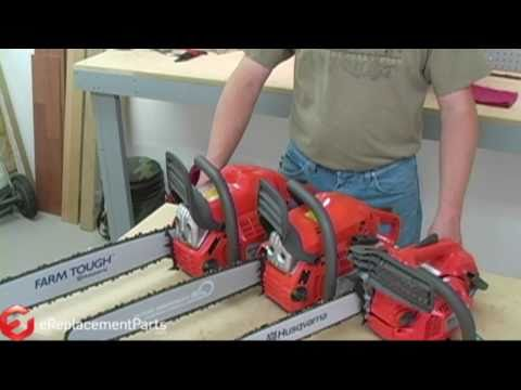how to measure a bar on a chainsaw