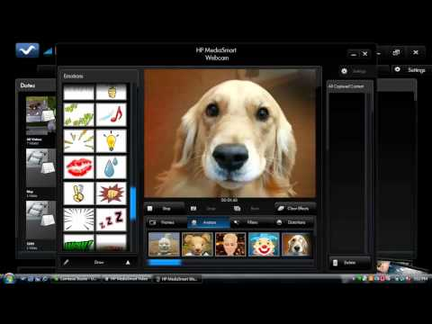 how to download web camera software for hp