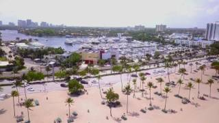 Aerial view of the Bahia Mar Yachting Center in Fort Lauderdale.