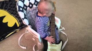 Little Blade is probably too young to be attempting to play guitar but like any excited dad, I thought I'd let him try. Oh well. Maybe he'll get better.