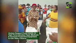 Victims Support Fund COVID-19 Task Force Donates Food and Medical Consumable to Edo State
