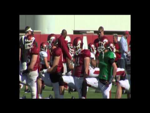 A.J. Derby move from quarterback to tight end video.