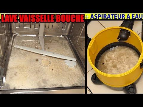 lave vaisselle bouché pompe ne vidange pas l'eau ne coule plus aspirateur PARKSIDE LIDL PNTS 1300