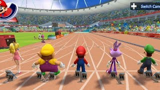 Mario & Sonic at the London 2012 Olympic Games - 100 Meter Dash (All Characters)