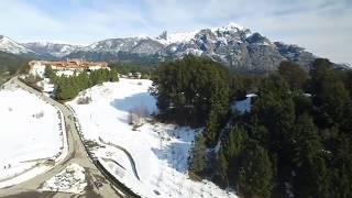 test drone dji inspire 1 bariloche Hotel llao llao nieve 2017