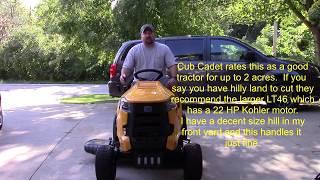 8. Cub Cadet XT1 Lawn Tractor   First Impressions