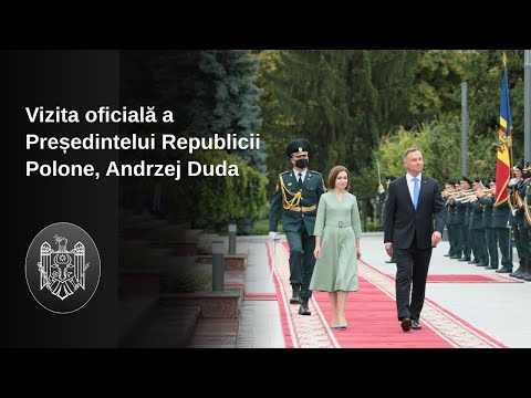 Președintele Republicii Moldova, Maia Sandu, l-a întâmpinat la Chișinău pe Președintele Republicii Polone, Andrzej Duda