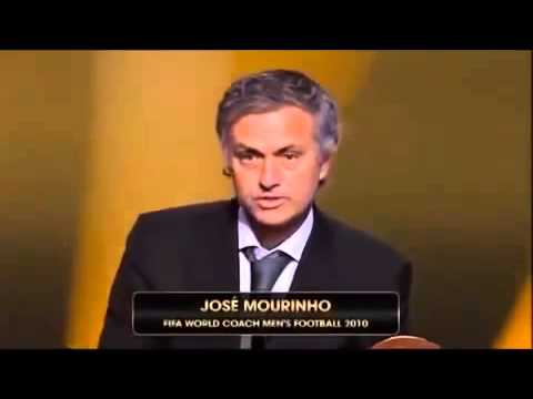Mourinho Best Coach of 2010 FIFA