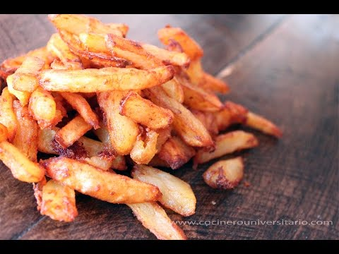 Patatas fritas caseras perfectas