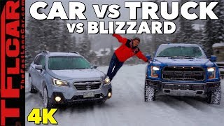 2019 Ford Raptor vs Subaru Outback: What's The Best Blizzard Fighter? by The Fast Lane Car