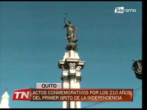 Actos conmemorativos por los 210 años del primer grito de la Independencia