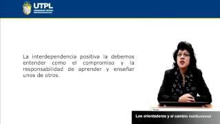 UTPL LOS ORIENTADORES Y EL CAMBIO INSTITUCIONAL [(PSICOLOGÍA)(ORIENTACIÓN)]