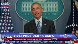 DOCTOR NEEDED: Reporter Gets Sick at President Obama's Year-End News Conference FNN