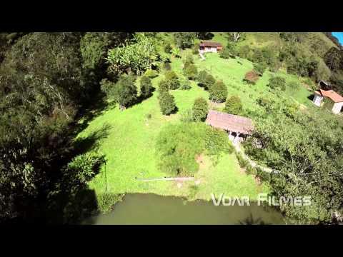 Clipe imagens aéreas Pousada Recanto do Pinheirão - Visconde de Mauá/RJ
