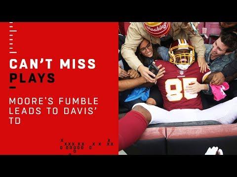 D.J. Moore's Fumble Leads to Vernon Davis' TD!