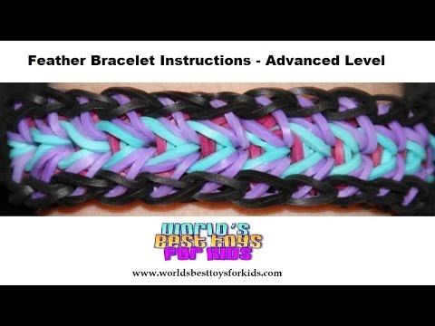 Rainbow Loom Rubber Band Refill – Feather Bracelet Instructions