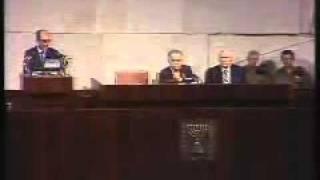 خطاب  محمد أنور السادات بالكنيست الإسرائيلي كاملا