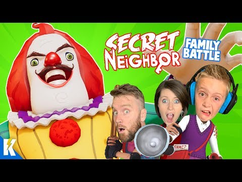 Secret Neighbor (Multiplayer MESS Family Battle!) Hello Neighbor Part 3 | KIDCITY GAMING