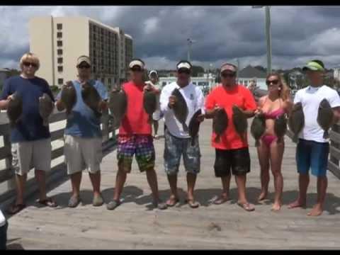 Pier Fishing for Flounder – Surfside Beach Pier, SC  Sept 2012