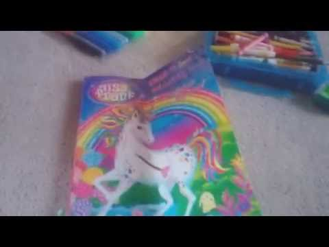 Lisa frank coloring with oil pasteles TOTAL FAIL