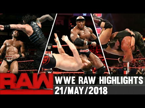 WWE Monday Night Raw 21 May 2018 hindi highlights Preview - Roman reigns vs Brock lesnar results