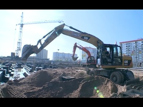 Ход строительных работ школы в микрорайоне «Ивушки» проинспектировала Вероника Минина