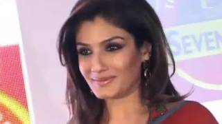 Raveena Tandon At A Press Meet For 'Seven Seas Cod Oil'