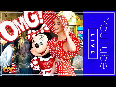 🔴 LIVE Katy Perry &  Minnie Mouse Hollywood Walk Of Fame Star! #ROCKTHEDOTS