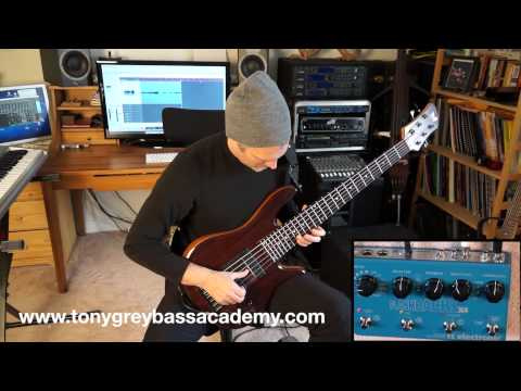 In this video Bassplayer Tony Grey is demoing Flashback X4 delay pedal from TC Electronic.