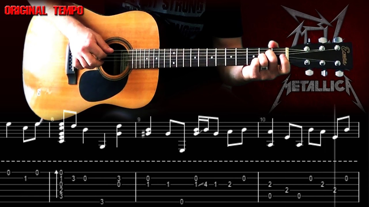 The Unforgiven | How To Play | Main Acoustic Guitar Part