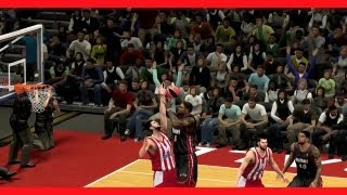 NBA 2K14 First Look At Gameplay For Current-Gen | Full Breakdown Of Exhibition Mode With Euroleague