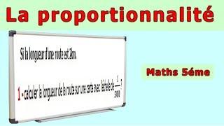 Maths 5ème - La proportionnalité Echelle Exercice 1