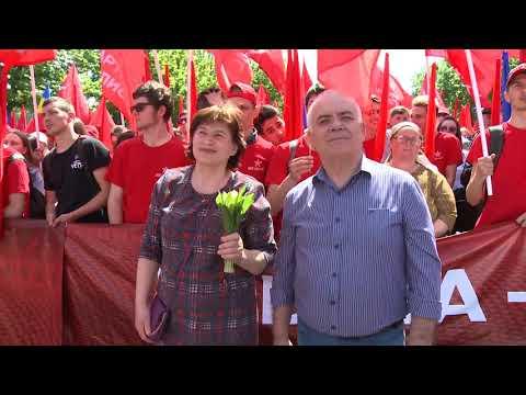 Președintele Igor Dodon a participat la Marșul solidarității oamenilor muncii