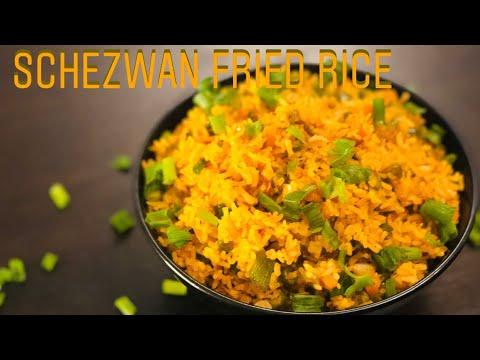 Schezwan Fried Rice Recipe | Homemade Schezwan Sauce | Veg schezwan fried rice | Indo-Chinese dish