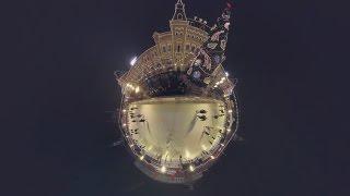 Видео 360: прогулка по праздничной Москве