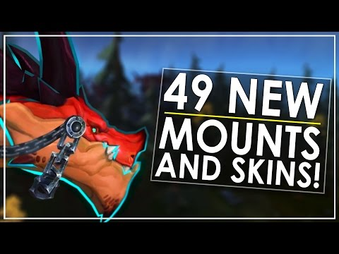 The 49 Epic New Mounts & Skins of Patch 7.2 - Incl All Class Mounts (видео)