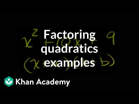 Algebra: Quadratic functions