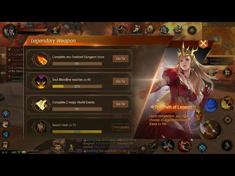World Of Kings Gameplay: Lvl 60, Legendary Weapon, Overlord Dungeon, Bloodlines!